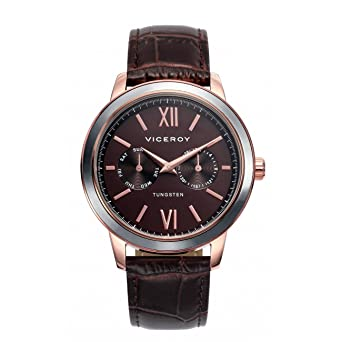 Reloj Viceroy 40991-43 Steel Leather Man IP Rosa Multifunction