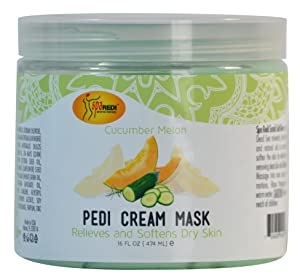 Spa Redi Pedi Cream Mask (Cucumber & Melon, 16 oz)