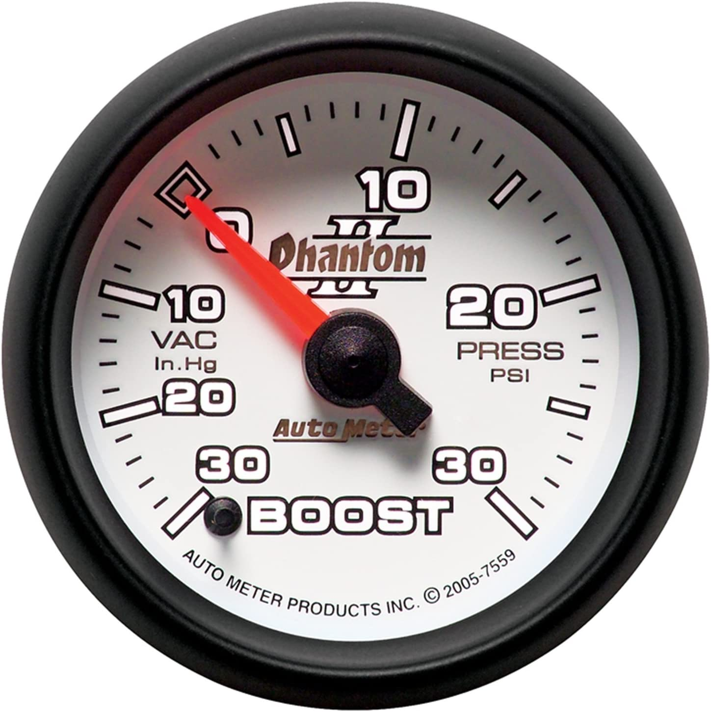 Auto Meter 7559 Phantom II Full Sweep Electric Vaccum Boost Gauge