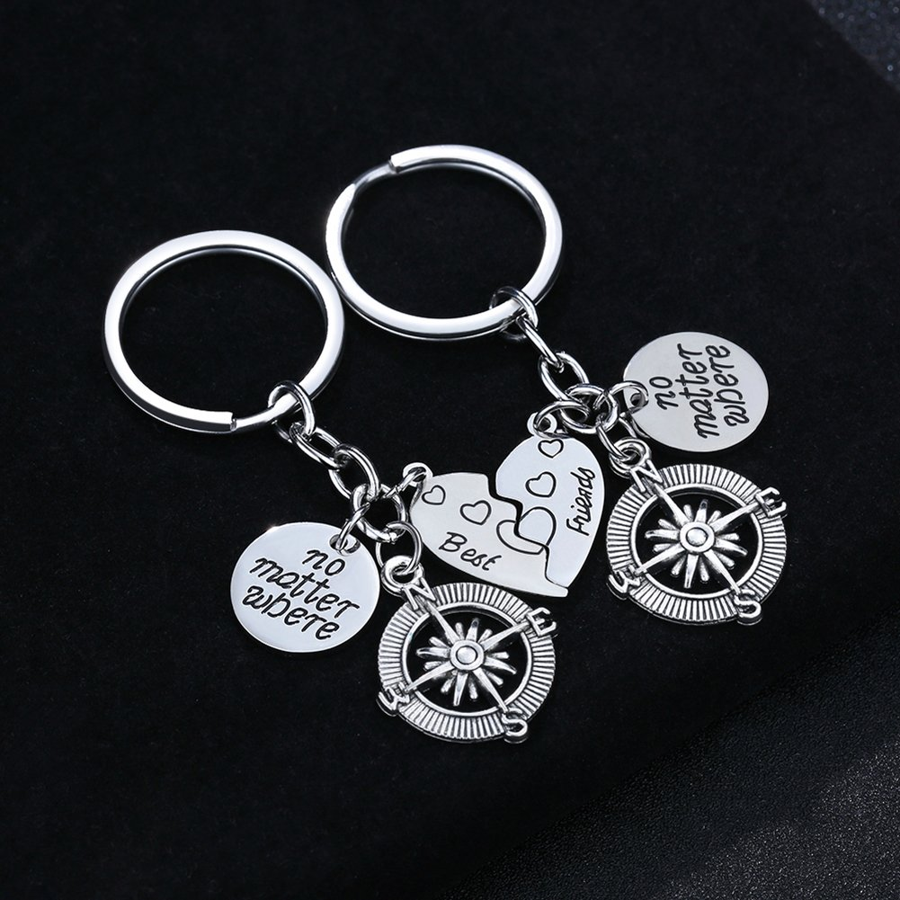 Amazon.com: 2pcs BBF mejores amigos conjunto de anillo de ...