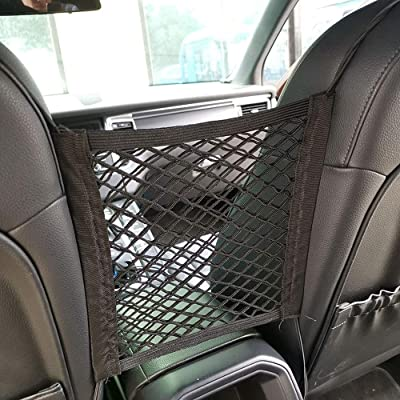 JOINAP 2-Layer Car Mesh Organizer Storage Seat Back Cargo Net Bag Pouch for Purse Luggage Pets Barrier Children Kids: Home Improvement
