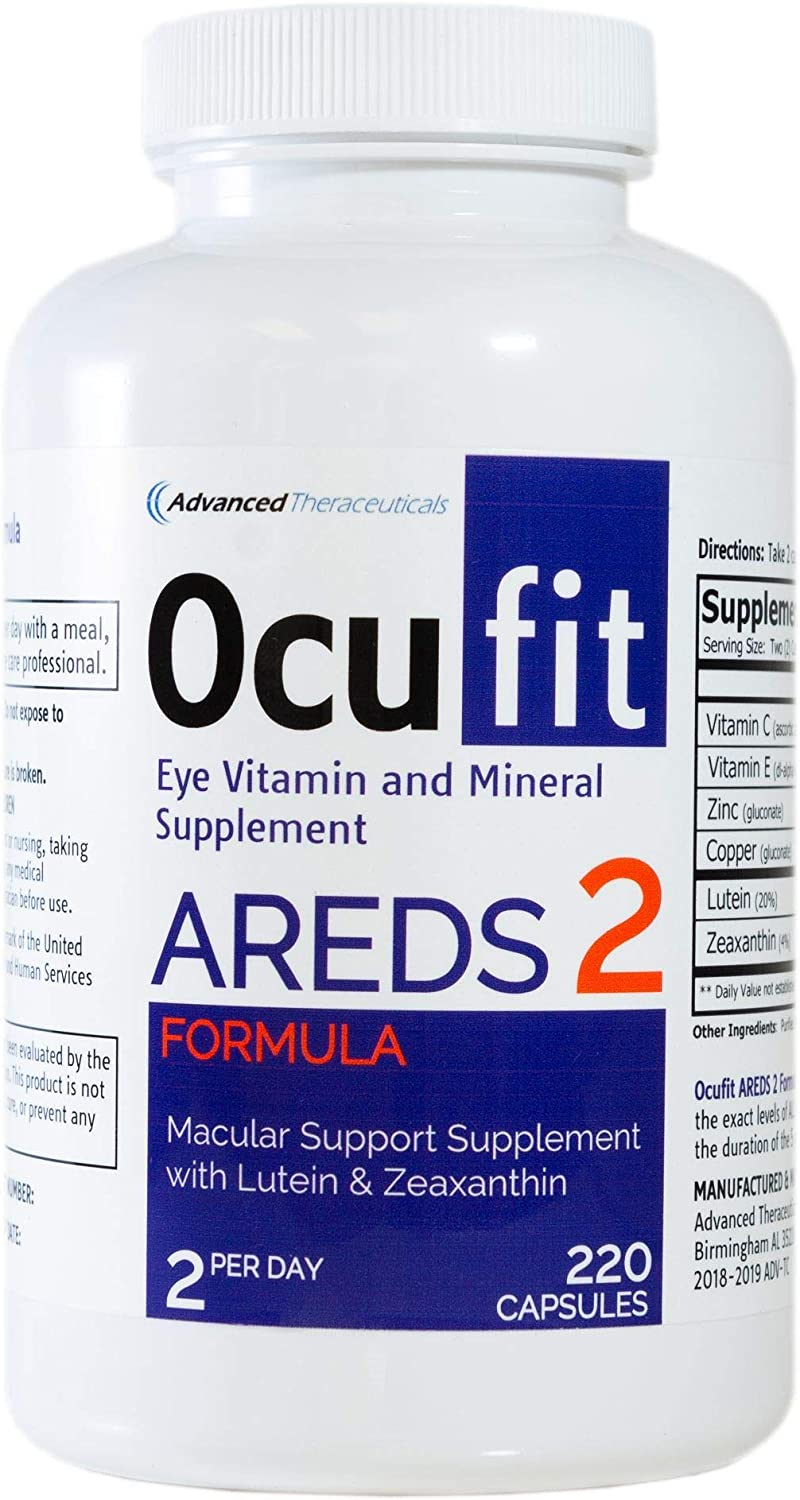 Ocufit AREDS 2 Formula Eye Vitamin Mineral Supplement 220 CT Free Shipping