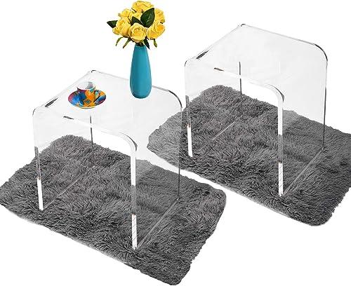 WAHFAY Acrylic End Table