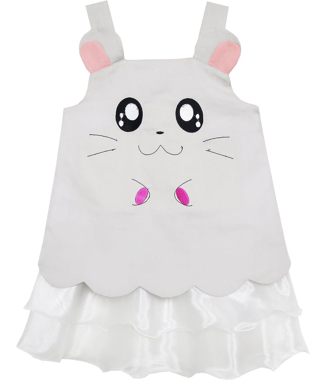 Sunny Fashion Girls Dress Tank Embroidered Cat Pattern Gray CNUS0HM53