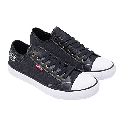 3a10cf669d1e6a Levi s Mens Black Denim Slip On Sneakers Tennis Shoe w Comfort Tech for  Everyday