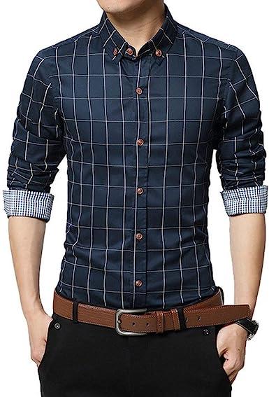 Camisa hombre manga larga