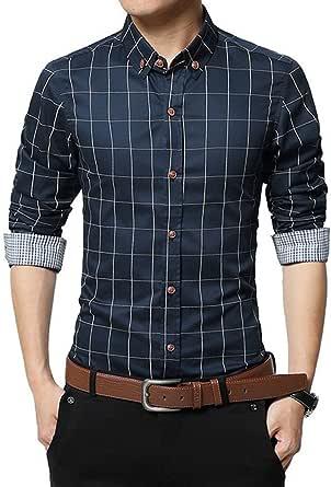 FAMILIZO Camisas Hombre Manga Larga Slim Fit Camisas Hombre Lino Camisas Hombre Originales Baratas Tops Blusa Hombre Blanca Otoño Casual Formal Slim ...