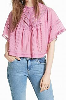 Free People Womens The Best Button Down Peach Small