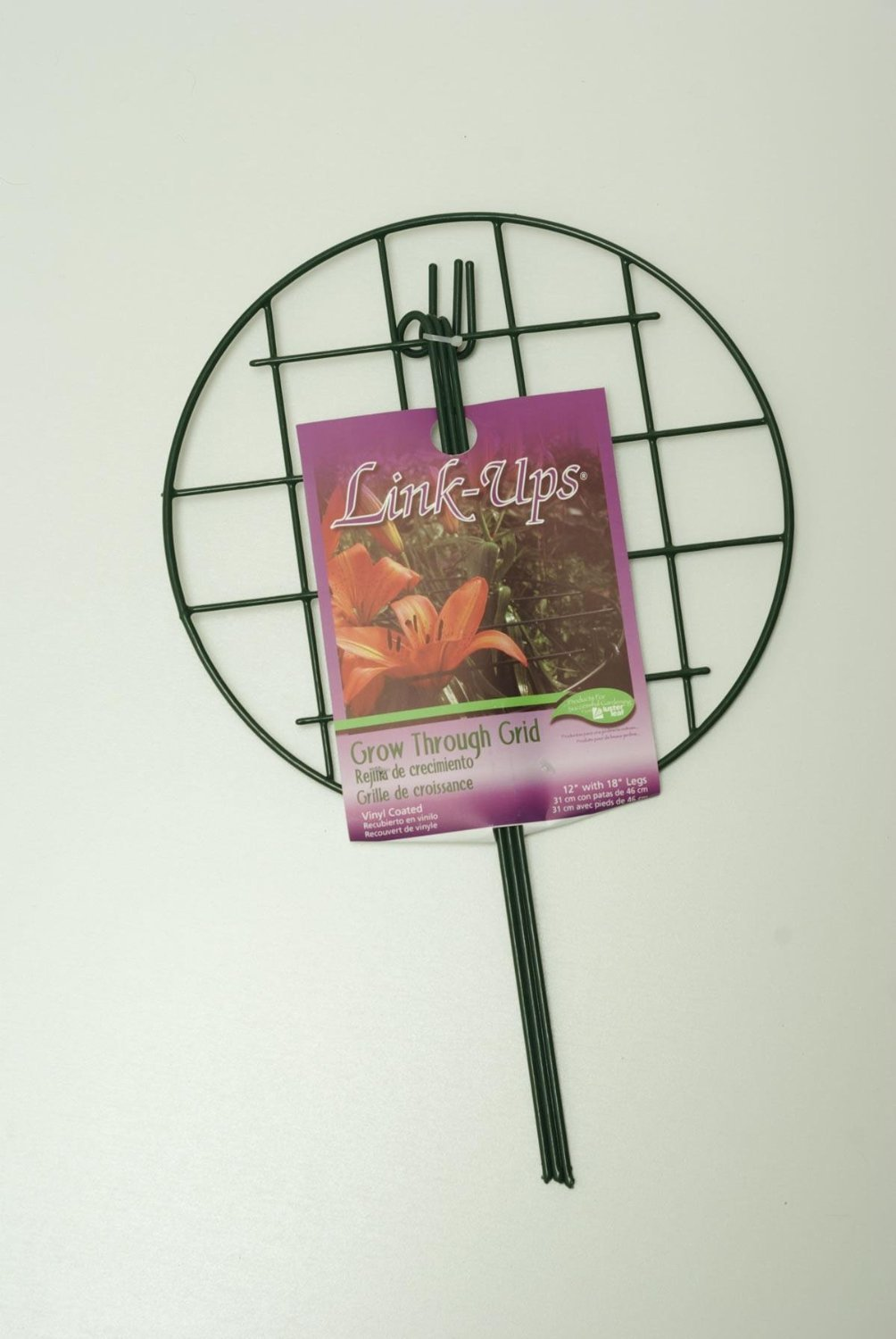 Luster Leaf # 972 16'' diameter x 24'' tall Green Grow Through Peony Plant Support Ring / Hoop - Quantity 9