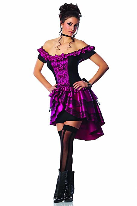 Saloon Girl Costume | Victorian Burlesque Dresses & History Delicious Dance Hall Queen Costume Magenta/Black X-Small $74.00 AT vintagedancer.com