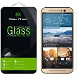 [2-Pack] Dmax Armor- HTC One M9 [Tempered Glass] Screen Protector with Lifetime Replacement Warranty