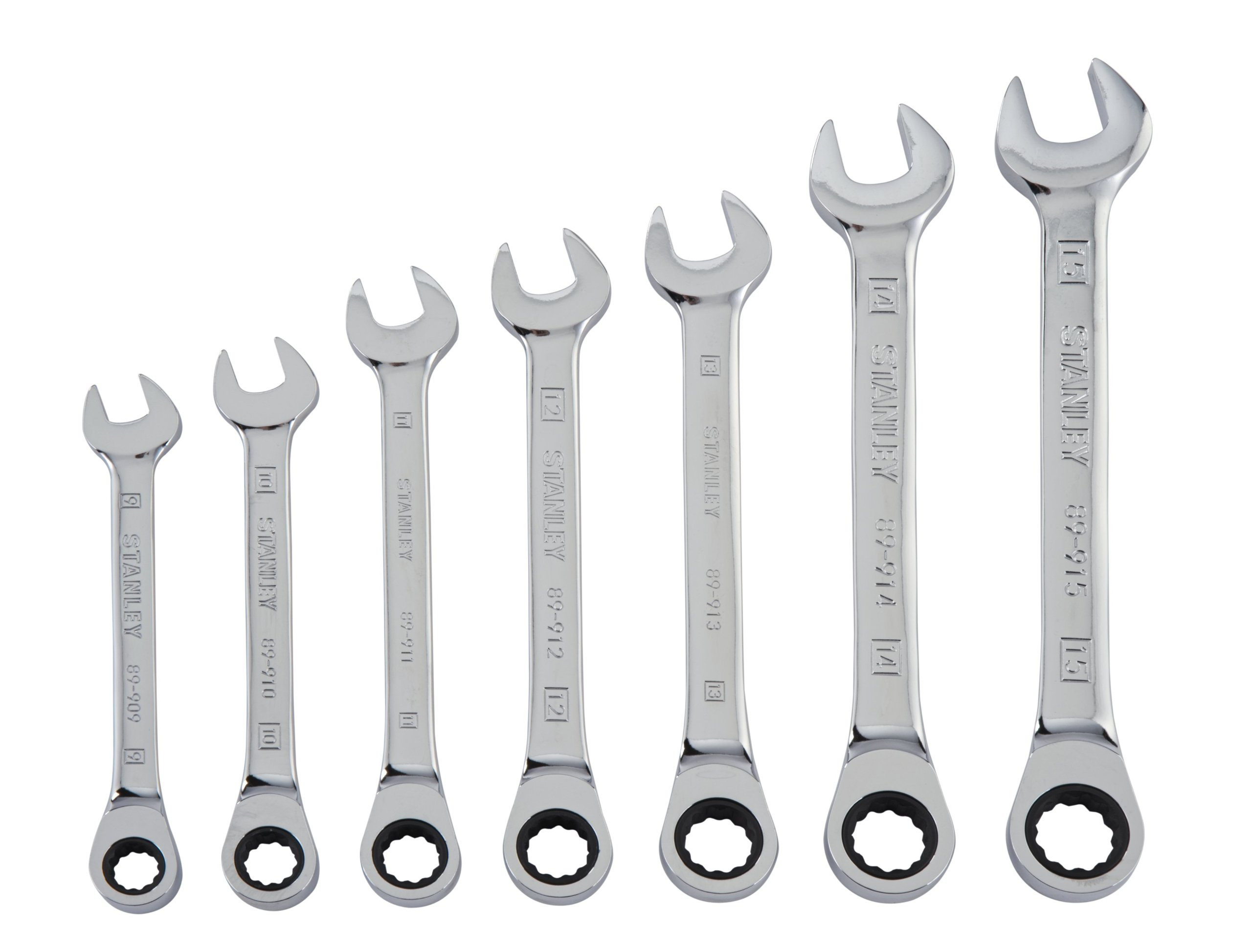 Stanley 94-543W 7-Piece Ratcheting Wrench Set, Metric