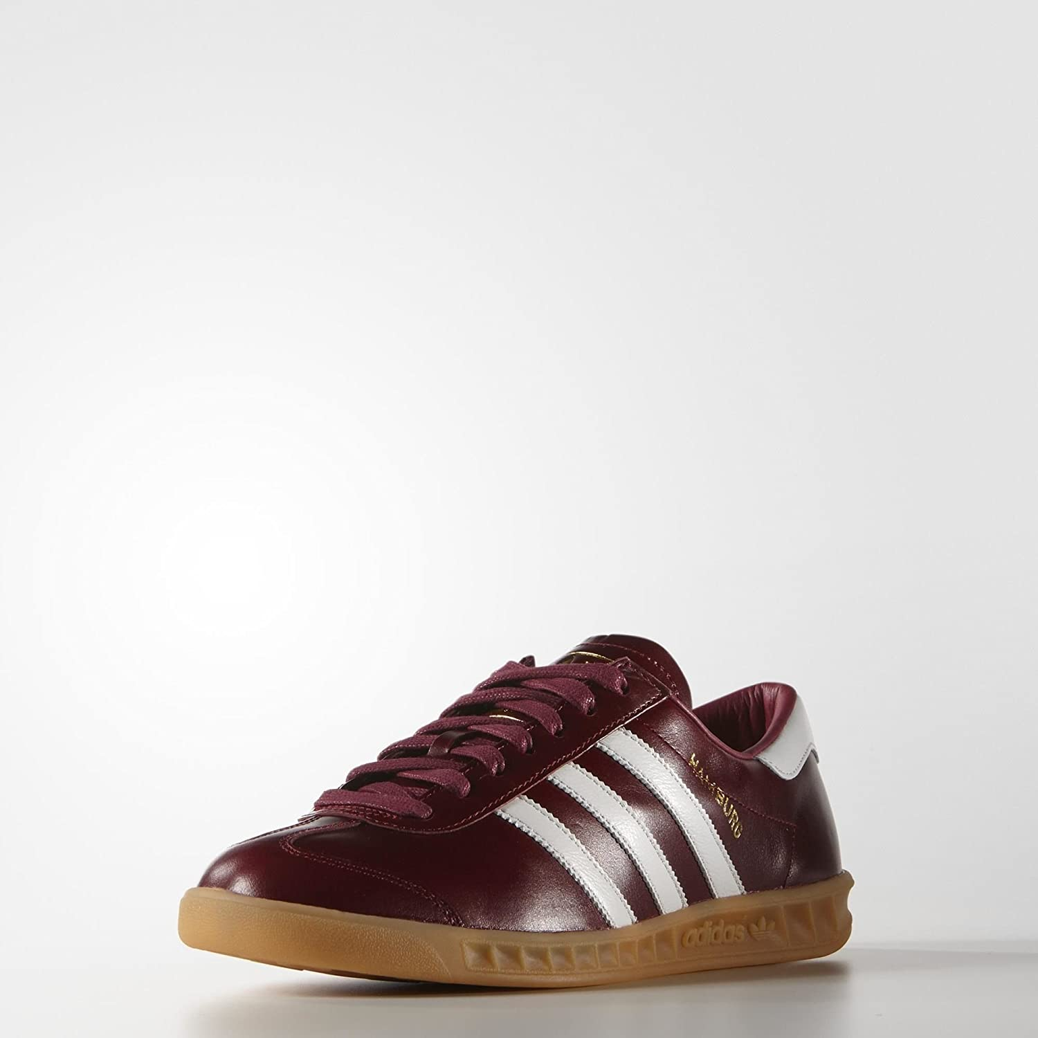 outlet store 82899 3862f Adidas Originals Hamburg MIG Made in Germany S31603 Burgundy Leather Mens  Shoes (size 9) Amazon.ca Shoes  Handbags