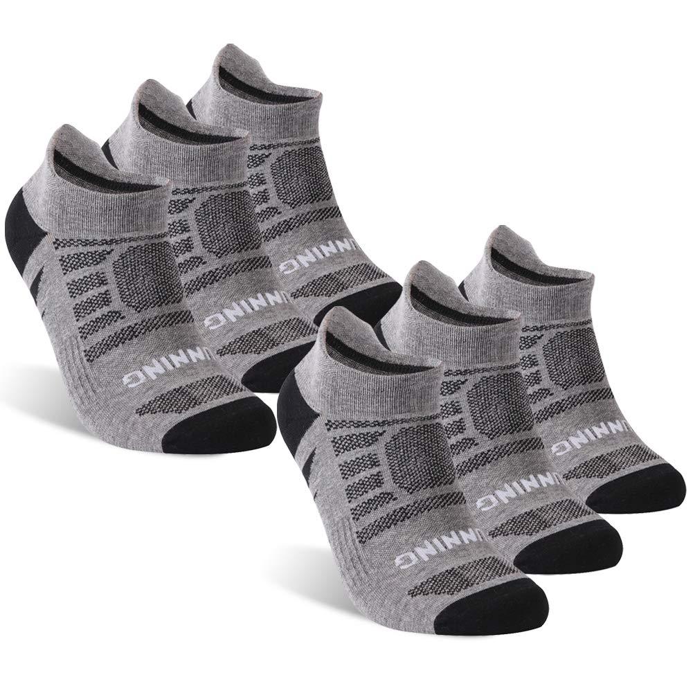 KitNSox Short Cushion Running Socks Men, Women's Men's Low Cut Lightweight Outdoor Sports Workout Tennis Travel Ankle Socks 6 Pairs