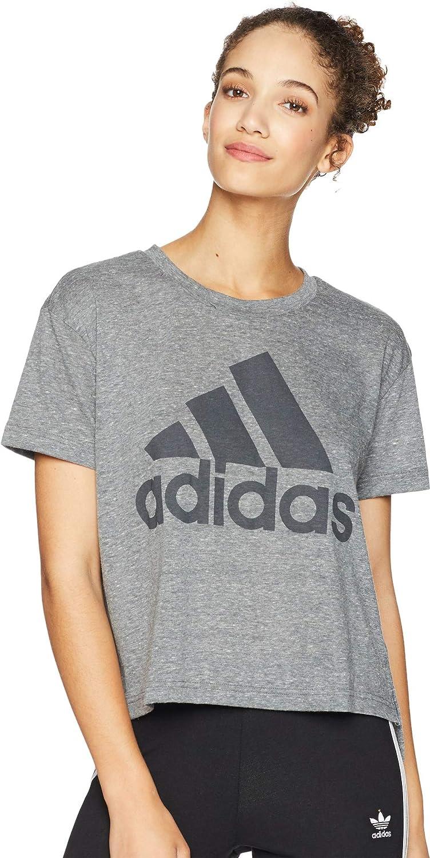6478c2b6841f adidas Women's Boxy Badge of Sport T-Shirt at Amazon Women's Clothing store: