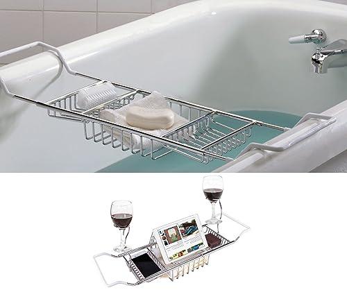 Blue Canyon Over Bath Rack Extendable Chrome: Amazon.co.uk: Kitchen ...