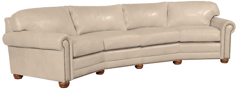 Amazon Omnia Leather Dominion 4 Seat Conversation Sofa in