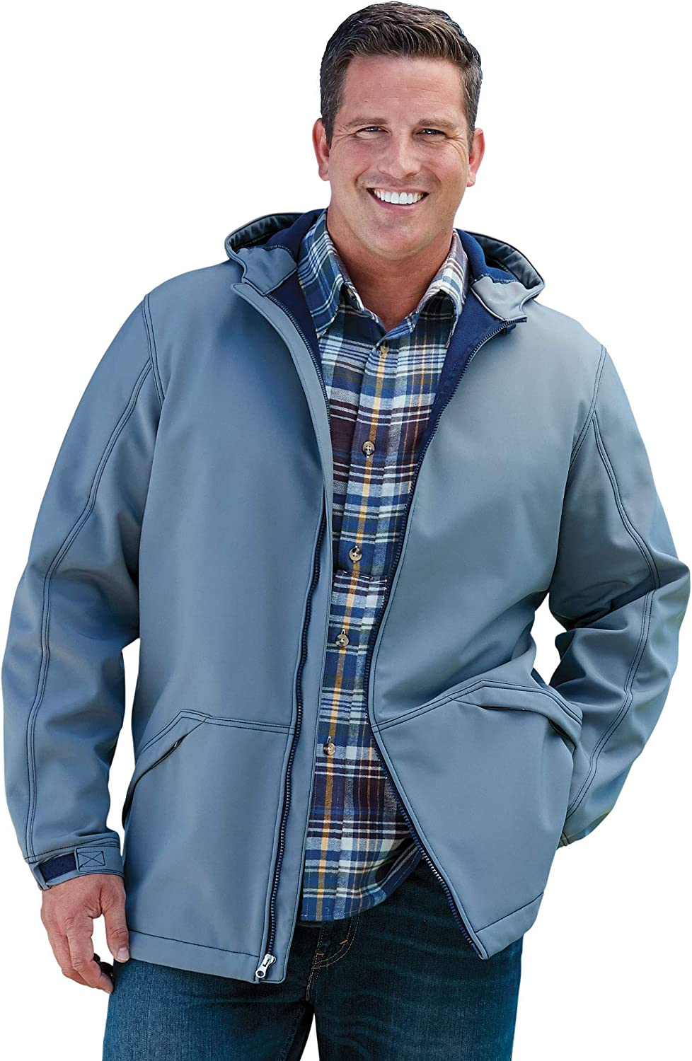 KingSize Mens Big /& Tall Fleece-Lined Rain Coat Steel Raincoat Big 8XL