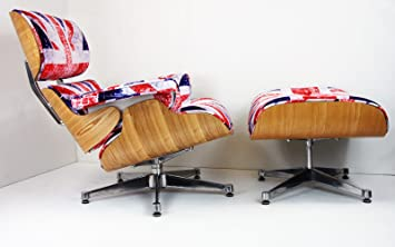 Awesome Charles Eames Inspired Lounge Chair Union Jack Ashwood Uwap Interior Chair Design Uwaporg