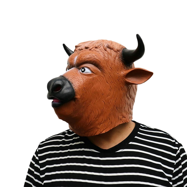SonMo Mascara de Toro Mascara de Terror Mascara Halloween Buey Cuerno Negro Nariz Nregra: Amazon.es: Juguetes y juegos