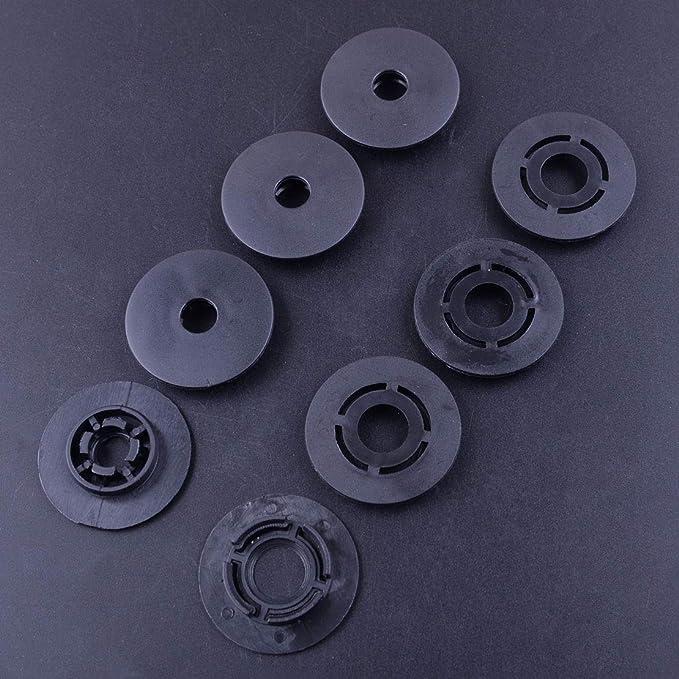 Milacolato 6 Paires de Boucles Doreilles Magn/étiques en Acier Inoxydable Boucles Doreilles CZ Faux Jauges Pour Hommes Femmes non Perc/ées 6//8//10mm