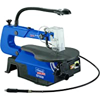 Scheppach SD1600F SD1600 F Scie à chantourner avec lampe de travail/table en aluminium pour 45°, 230 V, Bleu