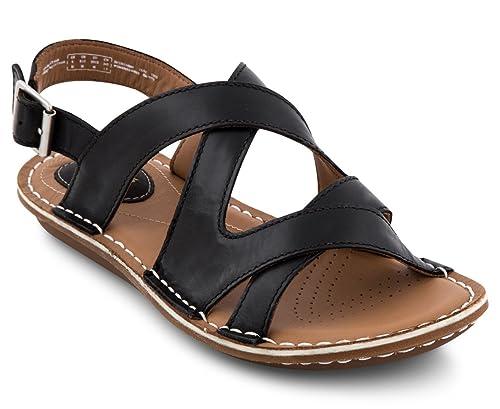 fa0dcaeea11f0c Clarks Women s Leather Tustin Spears Sandal Black  Amazon.com.au ...