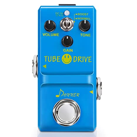 Amazon com: Donner Tube Drive Overdrive Guitar Effect Pedal