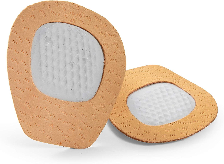 Kaps Medias Plantillas para Zapatos - Amortigución Metatarso - Evita que los pies se deslicen - Almohada de Látex de Cuero Natural y Amortiguadora - Unisex Talla Única Cody