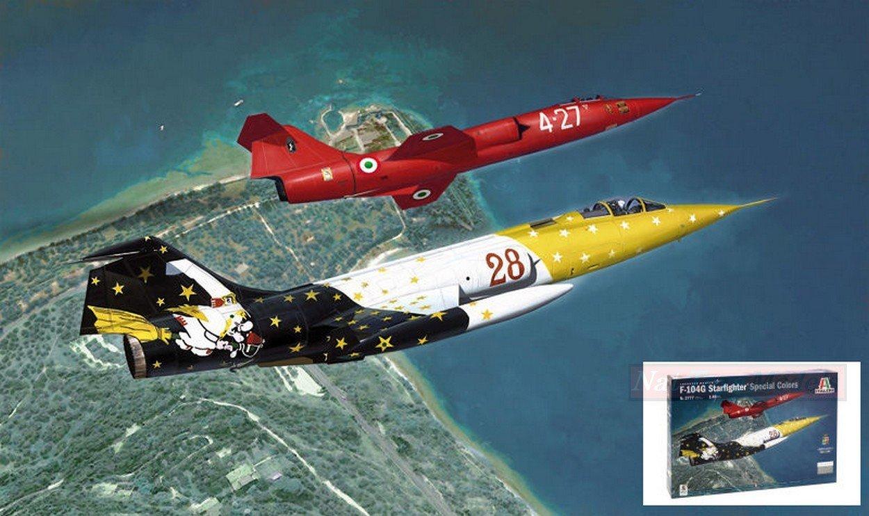 apresurado a ver Italeri IT2777 F-104G Starfighter Special Color Kit 1:48 MODELLINO Model Model Model  cómodamente
