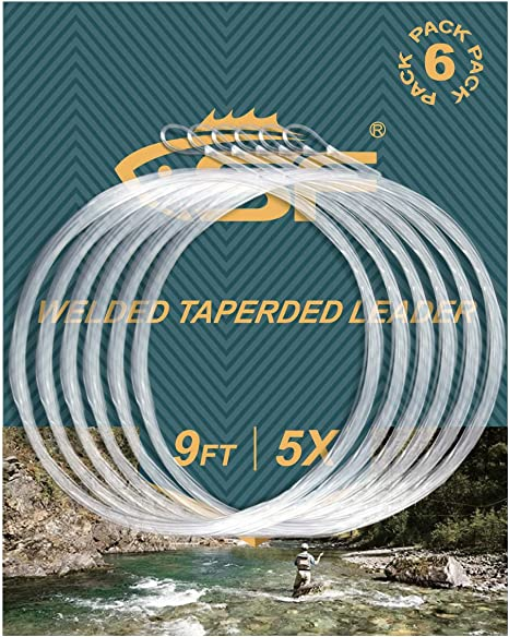 Fishing Angling 9ft 2 Droppers x 3 Trout Fly Leaders 4lb