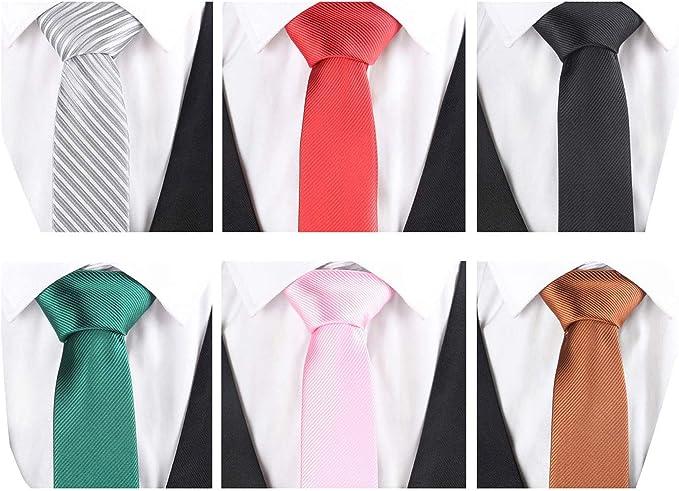 Lot 7 PCS Men/'s Neck Tie Floral Skinny Slim Narrow Necktie Mens Ties For Party