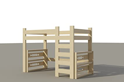 Amazon.com: Build your own Loft Bed (DIY Plans) Fun to build ...