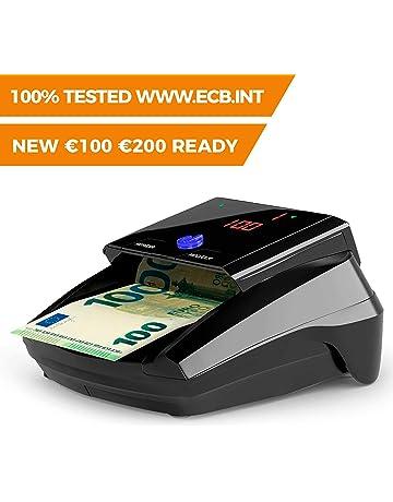 Detectalia D7 Detector de billetes falsos listo para los nuevos billetes de 100 y 200 euros
