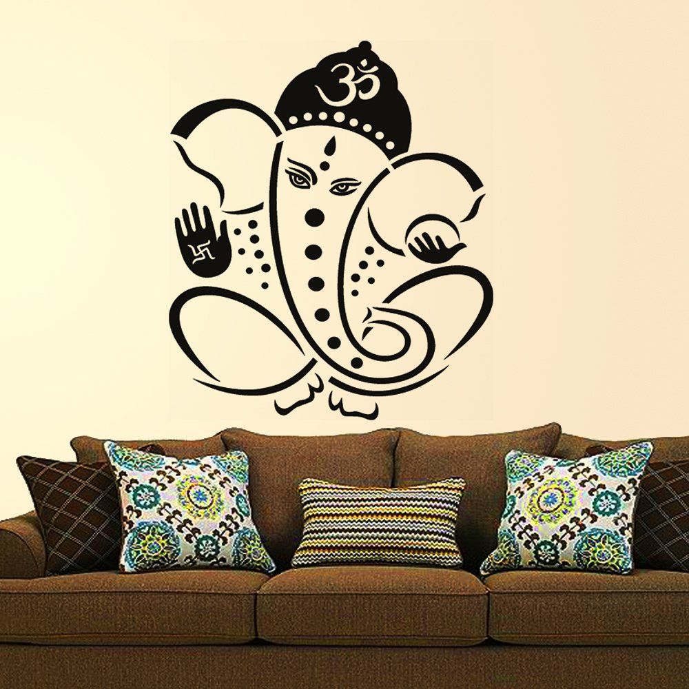Decals Design 'Pious Lord Ganesha' Wall Sticker (PVC Vinyl,