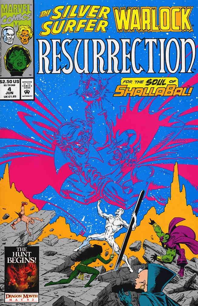 Silver Surfer/Warlock: Resurrection #4 VF/NM ; Marvel comic book