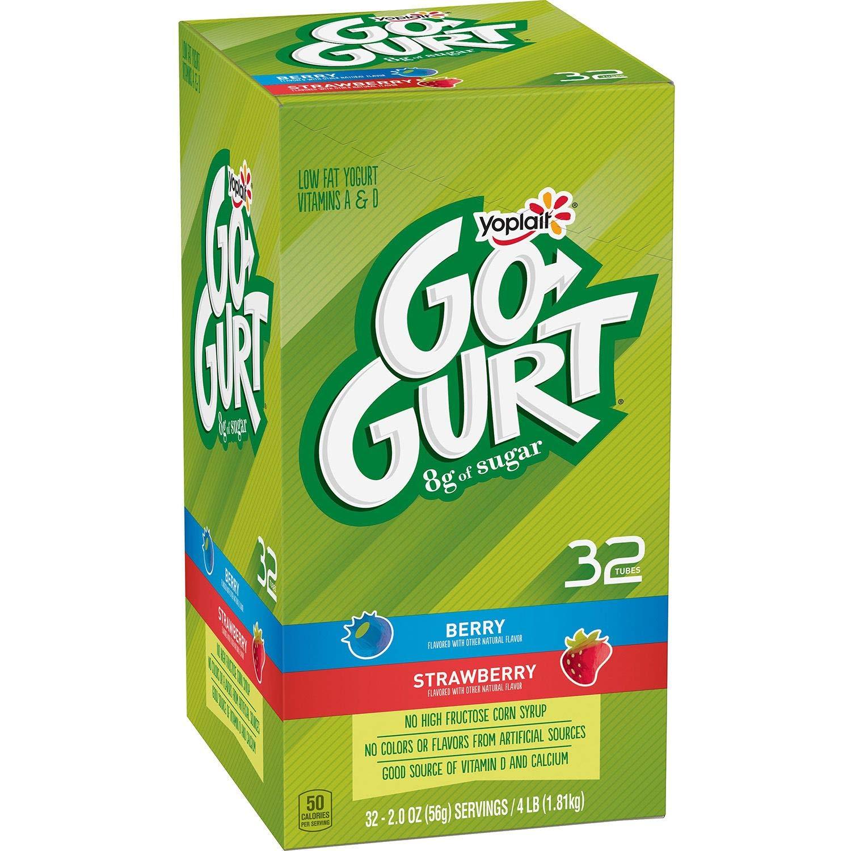 Yoplait Go-gurt Low Fat Yogurt, Strawberry and Berry: Amazon.com: Grocery & Gourmet Food