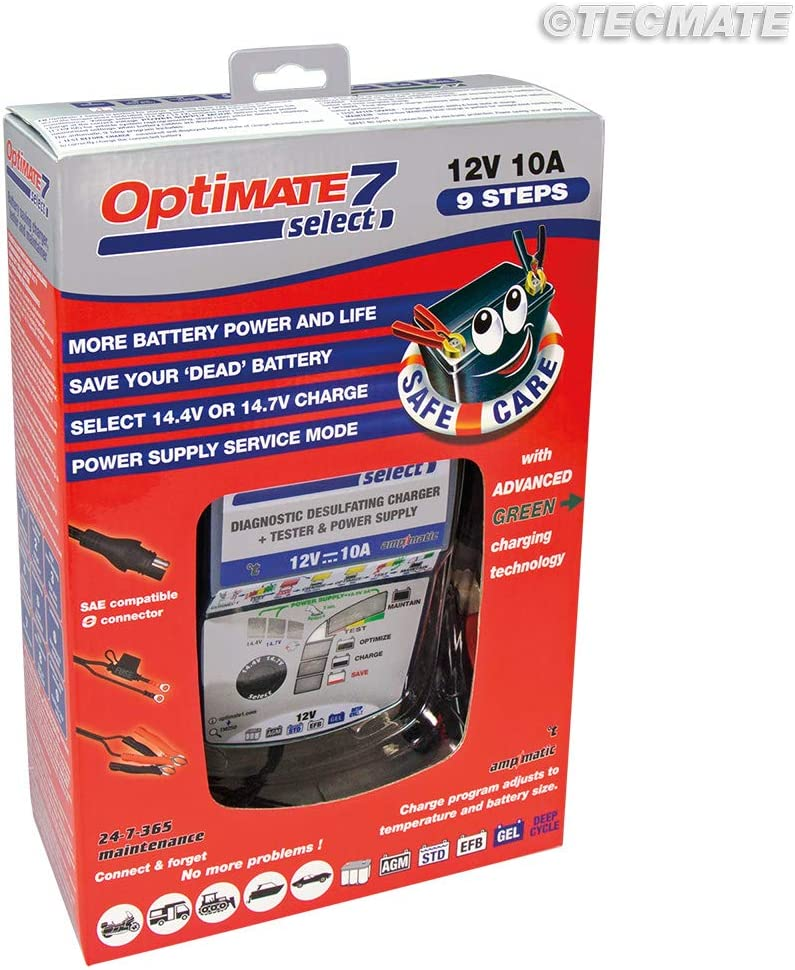 Optimate Tm250 Optimate7 Select Battery Charger 7 Selectable 14 4 V 14 7 V Power Supply Auto
