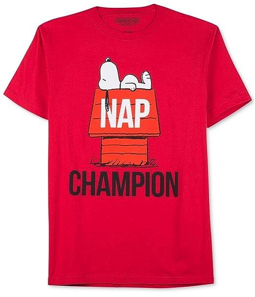02fb3d61f Jem Men's Peanuts Nap Champion Graphic T-Shirt | Amazon.com