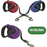 Heritage Pet Products - Guinzaglio a nastro per cani, retrattile e allungabile, di alta qualità, ideale per l'addestramento, lunghezza 5 m