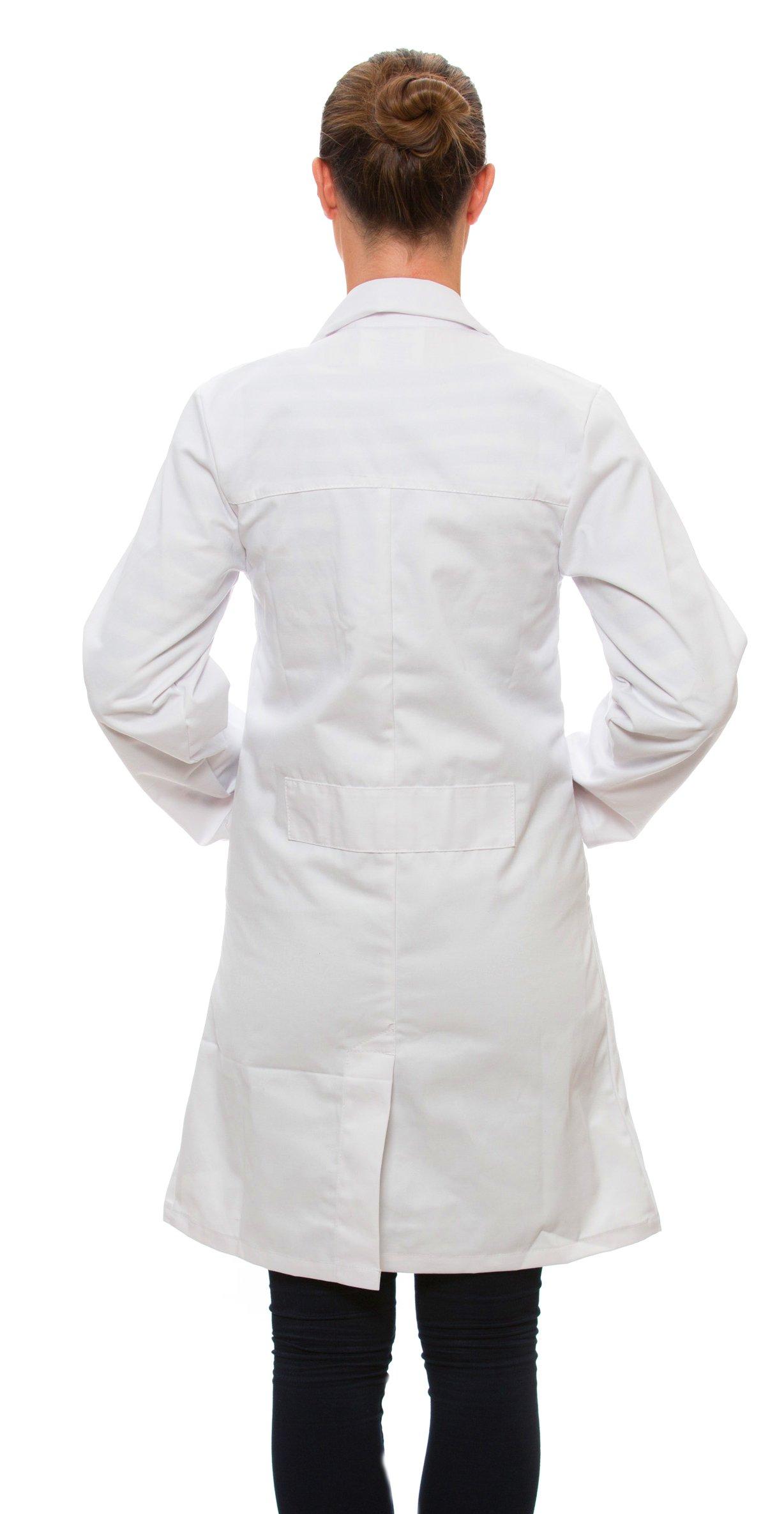 Dr. James Women's 100% Cotton White Lab Coat 39 Inch Length Size 6 US-04-C by Dr. James (Image #3)