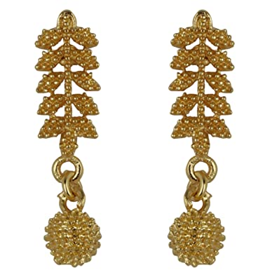 7f730abcf Buy Arafa Jewellers Golden Bahubali Tops Earrings for Women/Girls/latest  design/attractive look/gold plated Online at Low Prices in India | Amazon  Jewellery ...