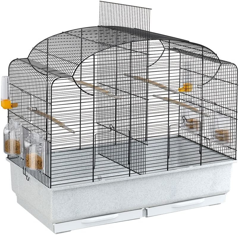 Ferplast Jaula para Canarios y Pájaros Exóticos Canto, Jaula de cría con Separador y Accesorios