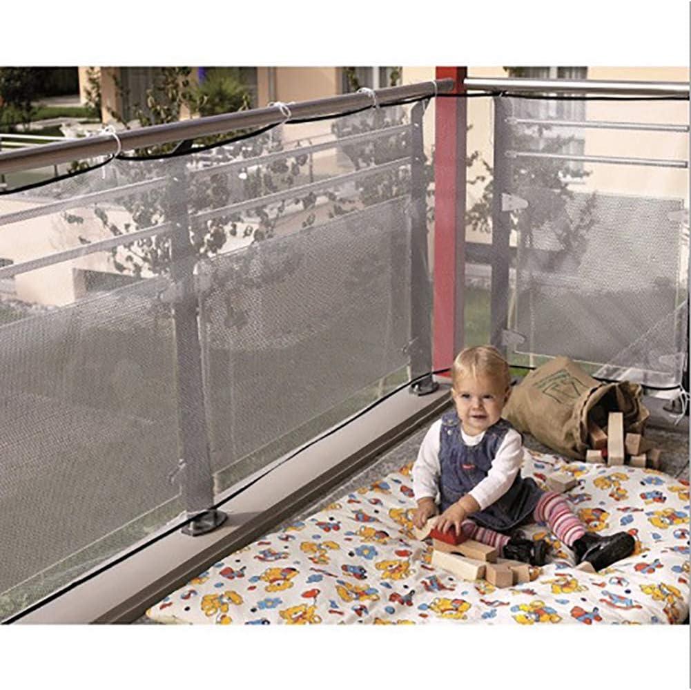 seguridad QEES red de seguridad para ni/ños para ni/ños mascotas malla de seguridad resistente para protecci/ón del beb/é red de seguridad duradera para balc/ón//escalera juguetes