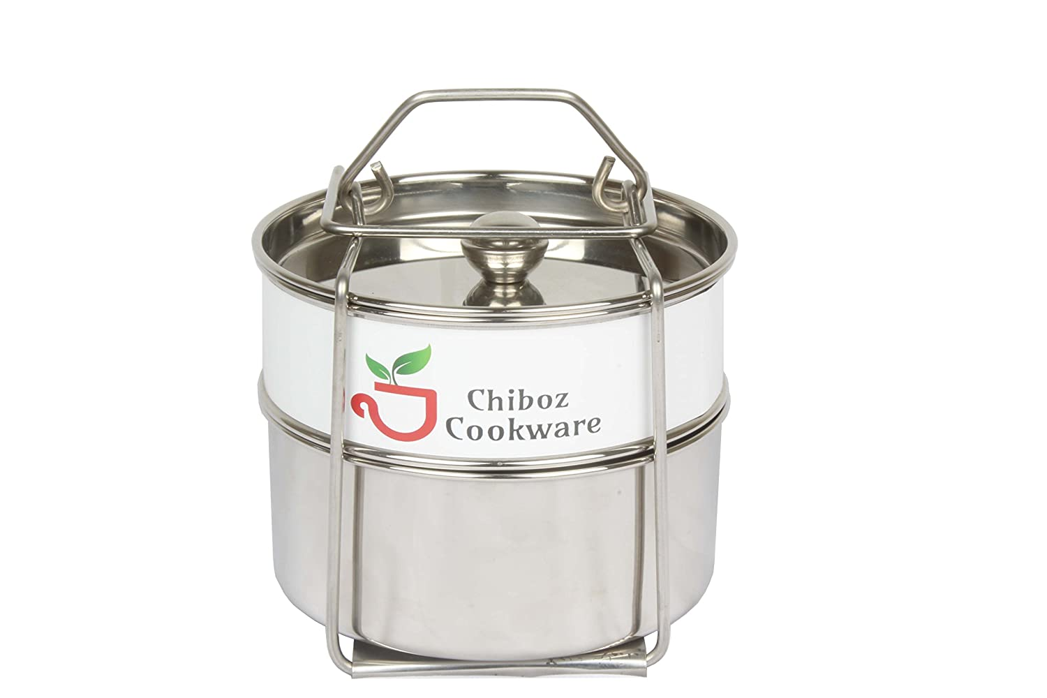 Chiboz Cookware Stackable Steamer Insert Pans with Sling Handle Compatible with Instant Pot 5 Qt