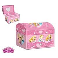 EVRYLON Portagioie principesse per gioielli da bambina colore rosa