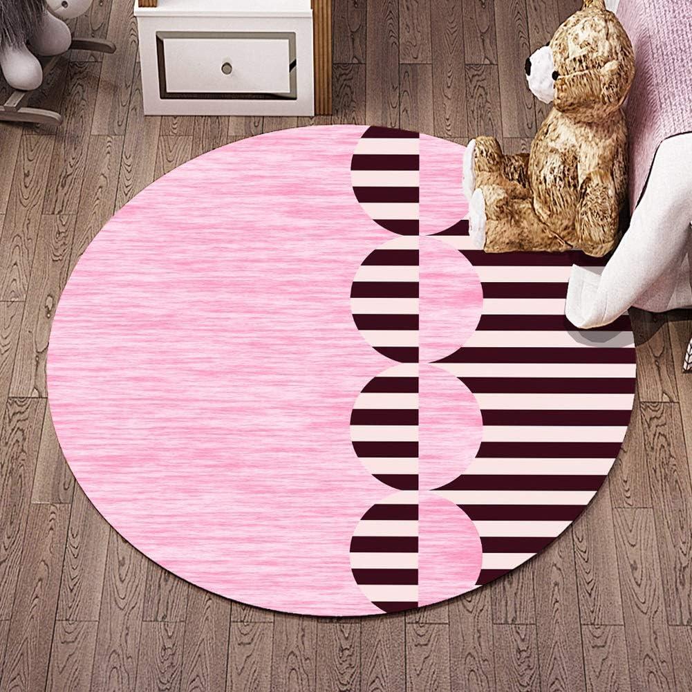 カーペット 子供ラウンドラグ保育園サークルカーペット子供プレイマット保育園の装飾赤ちゃんクロール敷物ティーンルームの装飾マルチスタイル シバオ-カーペット (Color : M, Size : 6'7''(200cm))