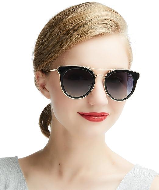66725ebf56aa Polarised Sunglasses Womens Cateye - DADA-PRO Ladies Classic Vintage Brand  Designer Dark Glasses for Driving Holiday Traveling