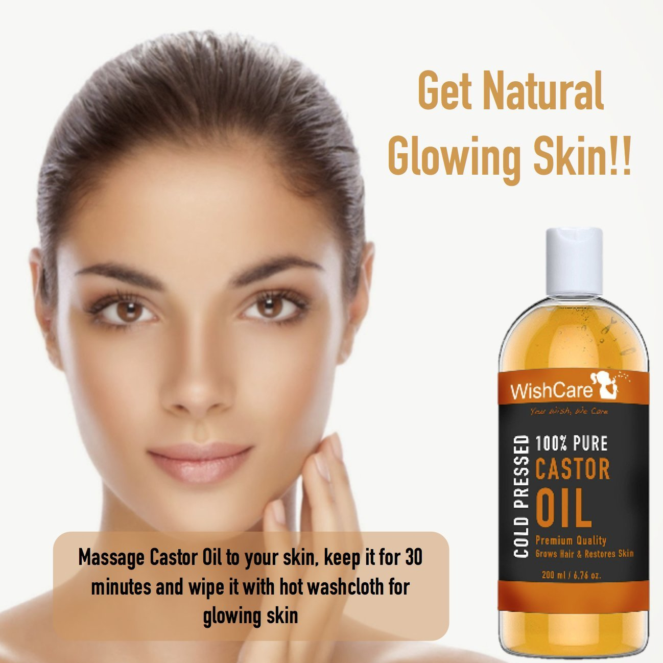 Wishcare Premium Cold Pressed Castor Oil For Hair & Skin