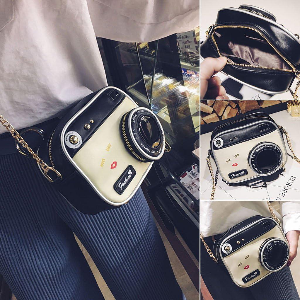 JAGENIE Women Fashion Camera Shape Small Shoulder Bag Crossbody Handbag Messenger Purse